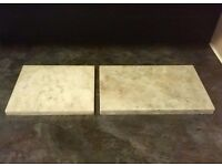 2 Pure Marble Slabs (3/4 Inch Thickness) - £5 for the Pair