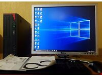 "High Spec PC Setup,Intel Core i3-4130,4GB DDR3 RAM,20"" Dell Full HD Monitor,500GB,Win 10 Pro 64Bit"