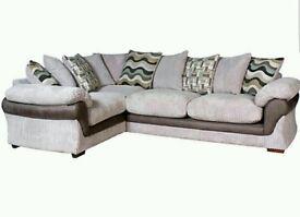 Harvey's corner sofa, swivel chair and footstool