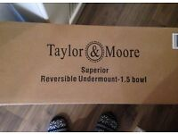 Taylor and Moore 1.5 undermounted stainless steel sink