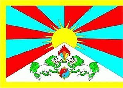 Tibet Asien Flagge Fahne Grösse 1,50 x 0,90m NEUWARE Fahnen Flaggen Tibetische