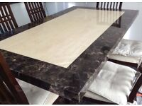 Pristine condition marble dining table for sale