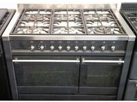 SMEG USED DUAL FUEL RANGE COOKER + FREE BH ONLY POSTCODES DELIVERY & 3 MONTHS GUARANTEE