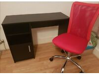 Brand New Hardly Used - Study Chair(hight adjustable) & Table -