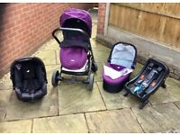 Joie 3 in 1 Travel System plus Isofix Base