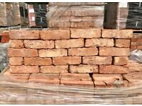 X500 68MM RECLAIMED LONDON RED STOCK BRICKS - 8000 AVAILABLE.