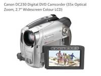 Canon DVD Camcorder- DC230 in excellent condition with accessories