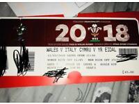 Wales Vs Italy 6N ticket