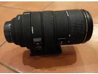 Sigma zoom lens 80 - 400 nikon fit.