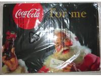 Neu Coca Cola Werbeschild Santa Weihnachtsmann 29,5x21cm Bremen - Hemelingen Vorschau