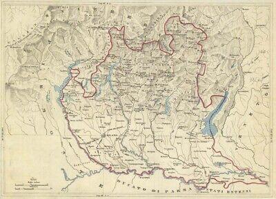 La Cartina Fisica Della Lombardia.Carta Geografica Vatican