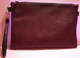 Hot and Trend Burgundy Color Soft Leather Lady Bag with Shoulder Strap and Short Handle Strap