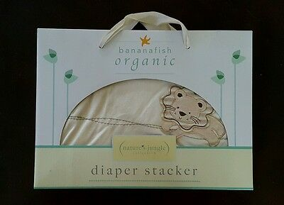 Bananafish Organic Nature's Jungle collection Diaper Stacker Boys/Girls beige