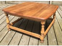 Mid Century Vintage Ercol Coffee Table - 30x30 Inches Scratch Free Top