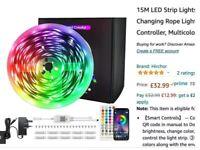 15 Meters Bluetooth LED Strip Lights