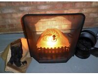 Burley Halstead Electric Inset Coal Fire Basket for Fireplace