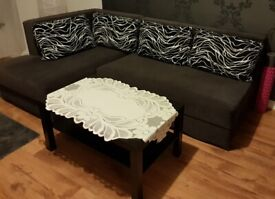 Brown Corner Sofa Bed
