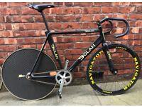 "Dolan Kilo Aluminium FrameTrack Bike, 58 - 60"" with Carbon Wheels & Fork."