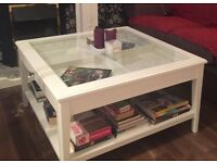 LIATORP IKEA coffee table (white/glass)