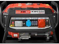 Generator KRAFTWELE KW6500 3Phase LIMITED Petrol 4,8KW