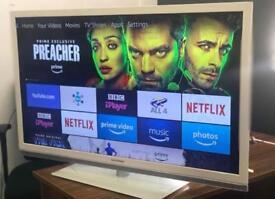 "46"" Led Grundig Full Hd 1080P Youtube Netflix Smart WiFi Via Amazon Stick excellent Condition"