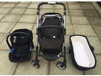Silver Cross Wayfarer Pram, Pushchair & Car Seat