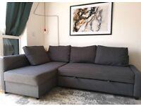 Ikea Friheten Corner Sofa Bed With Storage Skiftebo Dark Grey