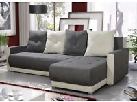 UNIVERSAL CORNER SOFA BED WITH STORAGE AND BONELL SPRING MATTRESS