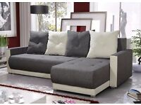 Corner sofa bed sofa bed UK STOCK 1-5 DAY DELIVERY.. Grey-White