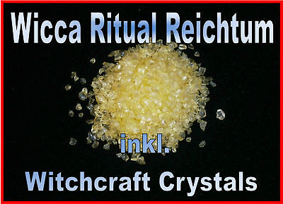 Wicca  Geld Ritual Reichtum inkl. Witchcraft Crystals Profi Magie TOP Bewertung