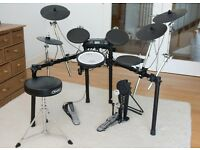 Roland TD4 Electronic drum kit, plus extra cymbal and stool