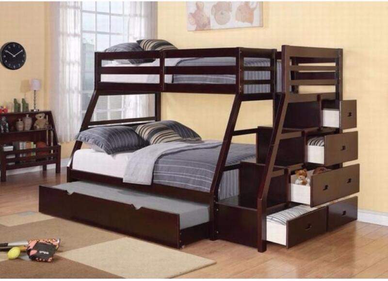 999 lits superpos s avec escalier espresso et disponible en blanc lits et matelas grand. Black Bedroom Furniture Sets. Home Design Ideas