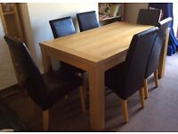 Dining room table and 6 chairs - good condition, smoke and pet free home.
