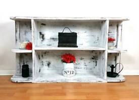 Shabby chic Distressed shelving unit