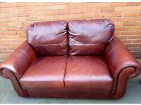 3+2 Seater Leather Sofas.Delivery Available