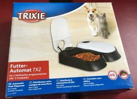 Cat and dog automatic food dispenser