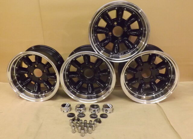 13x7 DEEP DISH JBW SUPERLIGHT MK2 WHEELS CAR SET OF 4, 7x13 -7ET, 4X101.6