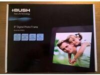 "Bush 8"" BF801 Digital Photo Frame + 4GB SD Card, as new, boxed."
