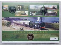 The Great Britain Bicentenary of Steam Coin & Stamps 2004 First Day Cover Set plus one other