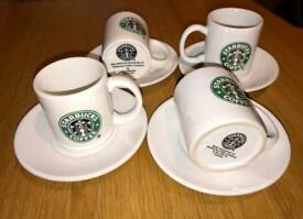 4 x Starbucks Espresso Cup and Saucers