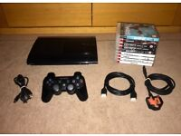 Playstation 3 - 500GB Super Slim - Controller - 9 Games