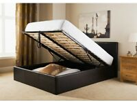 Double ottoman bed