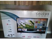 """Celcus 43"""" full hd smart led tv"""