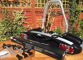Thule Euroclassic 929 new with 4 th. bike adapter 1.2.3.4. Bike carrier cheshire