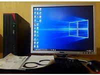 """High Spec PC Setup,Intel Core i3-4130,4GB DDR3 RAM,20"""" Dell Full HD Monitor,500GB,Win 10 Pro 64Bit"""