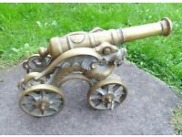 (#599) large brass cannon (Pick up only, Dy4 area)