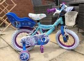 Girls frozen bike 12 inch 3+ years