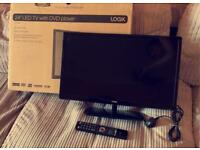 24ich tv with DVD players comes with box
