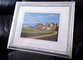 'ROAD HOLE', ST. ANDREWS GOLF COURSE: RICHARD CHORLEY ARTIST SIGNED PRINT