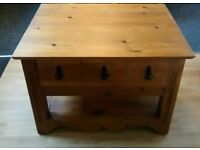 Nice pine coffee table / tv cabinet
